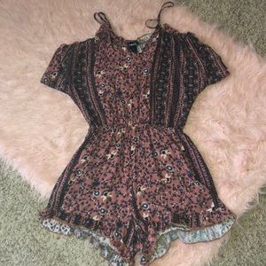 Cold Shoulder Patterned Romper